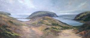 "Anne Bialke ""Paths to the Sea"" 18x36 oil $925."