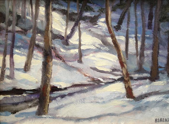 West End Gallery BialkeSunOnSnow - Anne Bialke