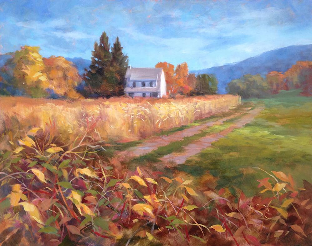 """Anne Bialke """"The Clarity of September"""" 16x20 oil $875."""