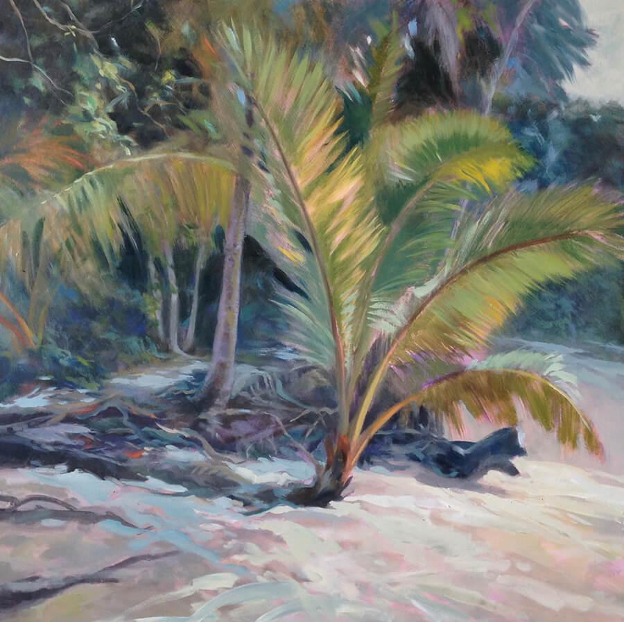 """Anne Bialke """"Warm Sands"""" 18x18 oil $775. INQUIRE *"""