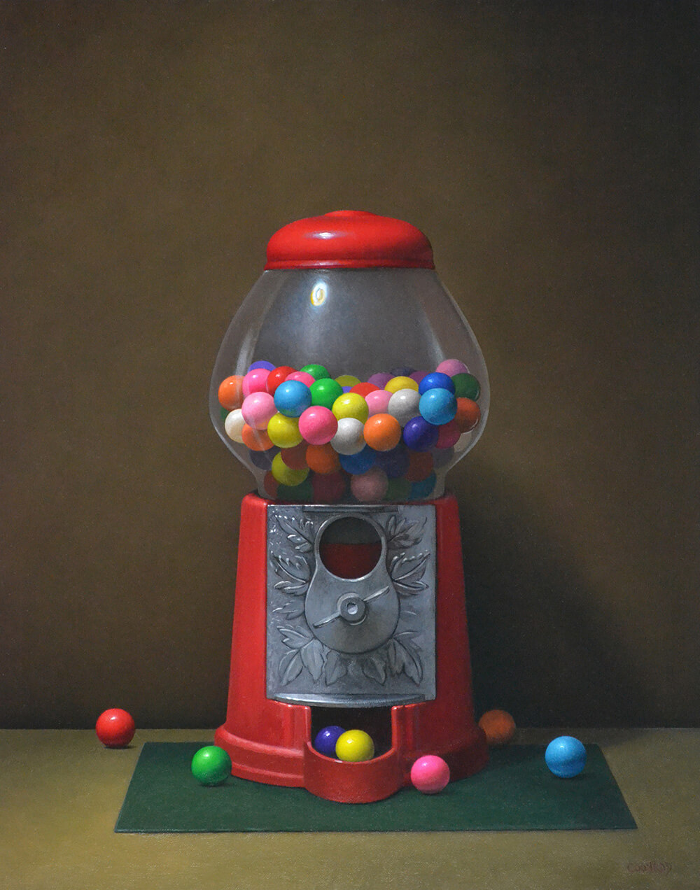 "Trish Coonrod ""Gumball Machine"" 20x16 oil on aluminum $2,250 SOLD"