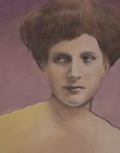 """Edd Tokarz Harnas """"Elaina della Veggente"""" 14x11 pencil/acrylic on canvas gallery wrap $350."""