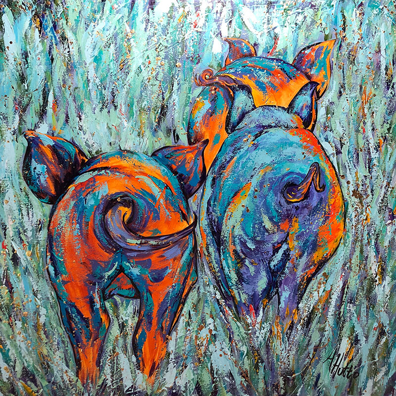 West End Gallery HuttoPigTails - 2019 Director's Choice Exhibit