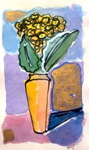 """Sheila Ortiz """"Yarka Hydrangea"""" 6x4 mixed media/paper $190"""