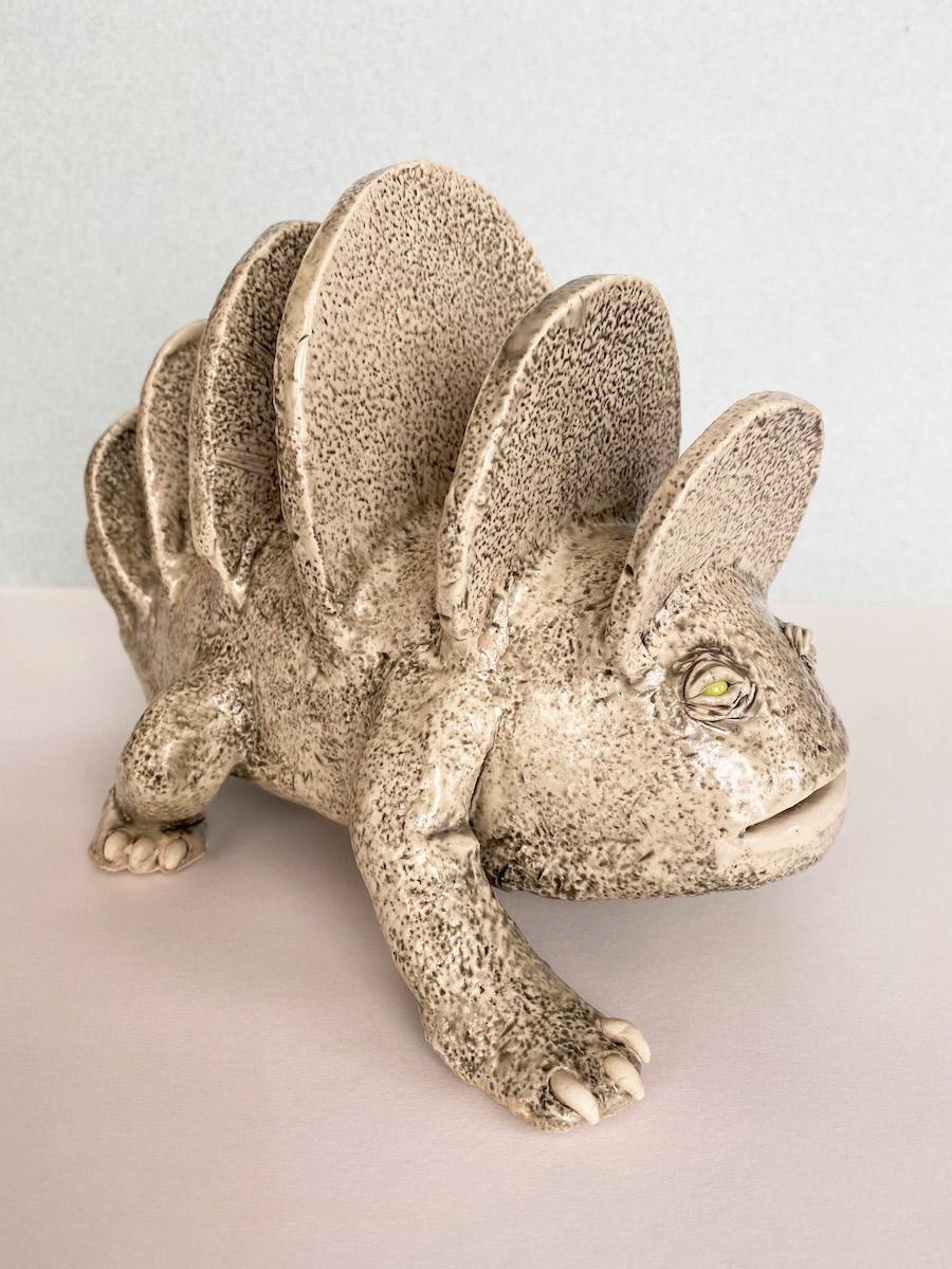 """Bohn Whitaker """"Xandi"""" 6x5x8 clay sculpture $150."""