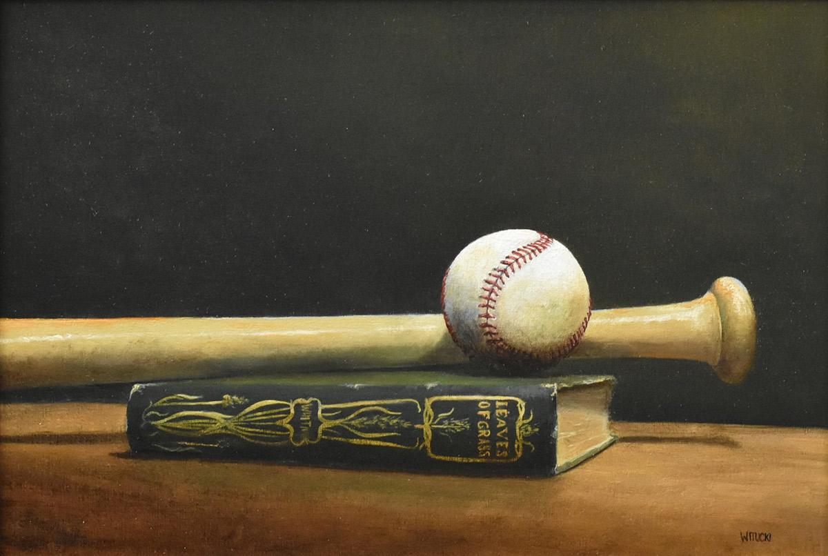 "Sean Witucki ""Good Game of Base-ball"" 11x16 oil/linen $1,300."