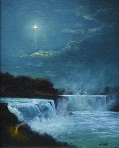 """Sean Witucki """"Niagara Light"""" 8x6 oil/canvas $600. SOLD"""