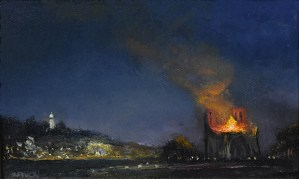 "Sean Witucki ""Notre Dame"" 4x6 oil/canvas $400."