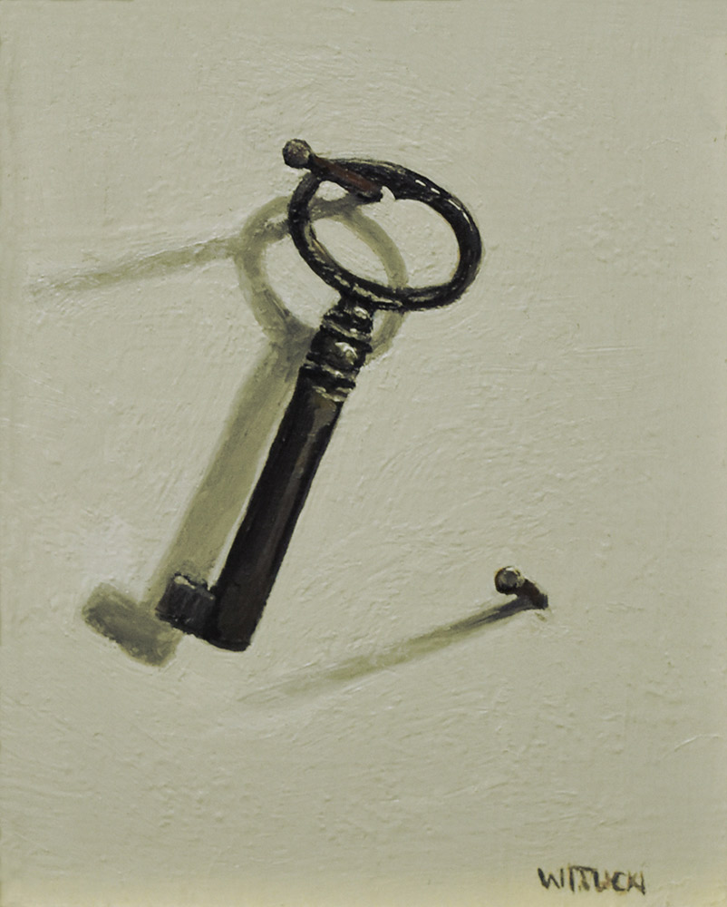 "Sean Witucki ""Key"" 4x3 oil/aluminum $300."