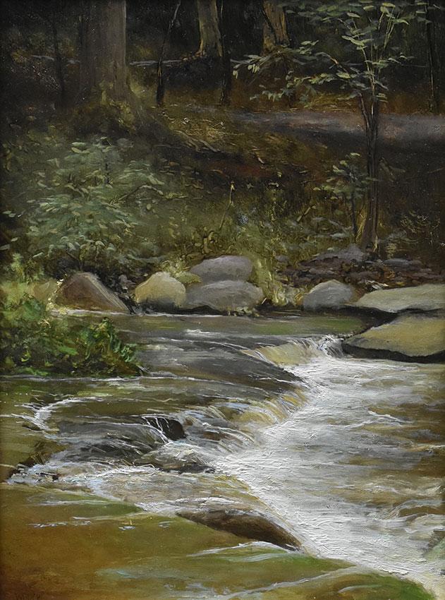 "Sean Witucki ""Wolf Creek After the Rain"" 12x9 oil/board INQUIRE"