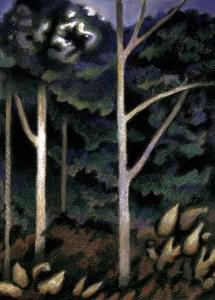 """Wynn Yarrow """"Alight"""" 17x11 charcoal/pastel/mixed media $650."""