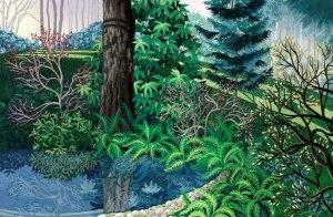 "Wynn Yarrow ""Soft Light, Gentle Rain"" 11x17 acrylic gouache $1,600."