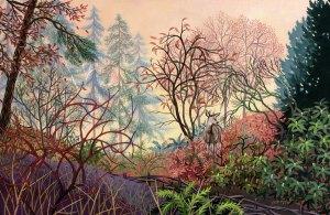 "Wynn Yarrow ""Promise of Dawn"" 11x17 acrylic gouache $1,600."