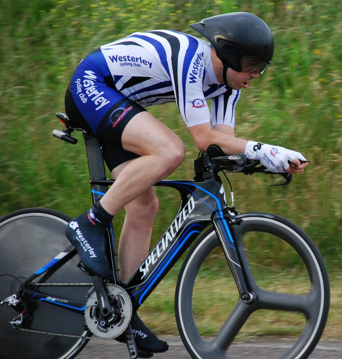Time trialling on the open road and at the Hillingdon Circuit