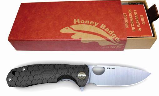 Honey Badger Knives Western Active Camping Gift Box Black Gift Box HB1001-2-1