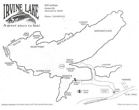 Irvine Lake Map