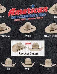 American hat company custom shape crown and brim styles also pungo ridge rh westernbootsales