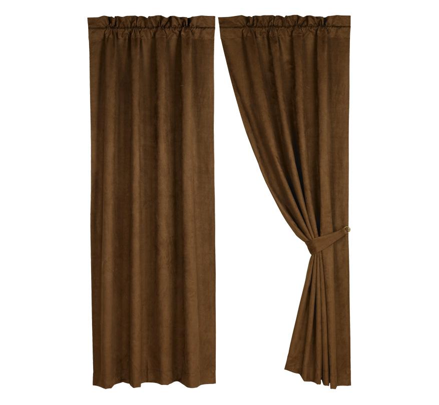 Pungo Ridge  Brown Micro Suede Curtain Panel Curtains