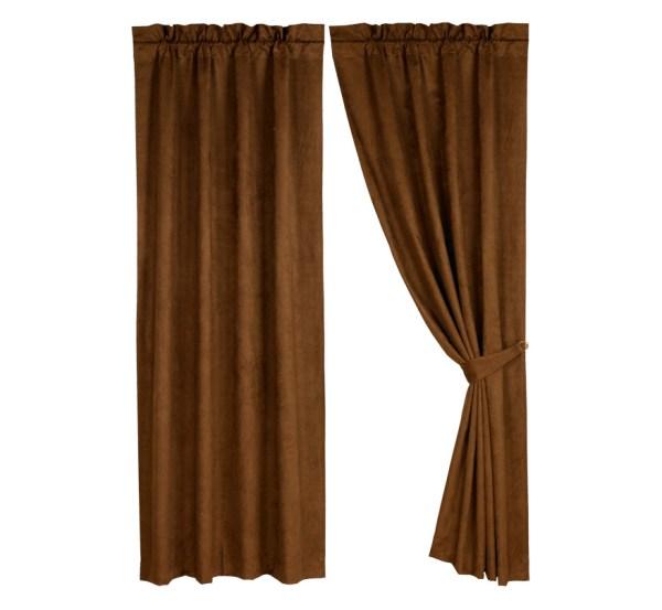 Pungo Ridge - Brown Micro Suede Curtain Panel Curtains
