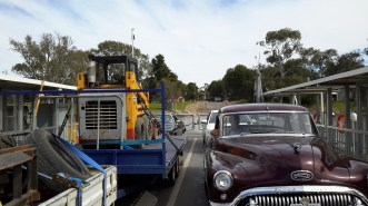 Our Buicks Ferry Crossing of the Murray River