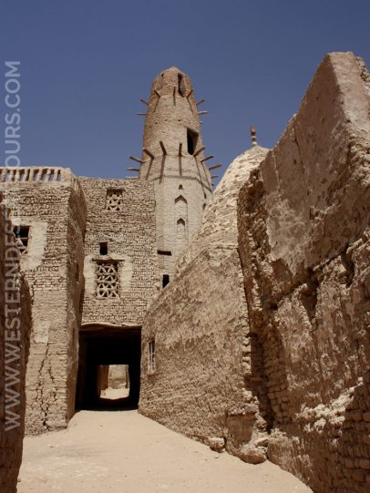 Alleyways in the historic center of al-Qasr in Dakhla Oasis