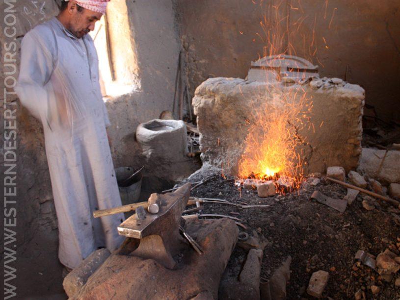 Blacksmith in al-Qasr in Dakhla Oasis