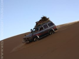 Gently gliding down a dune