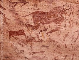 Paintings of headless beasts in the Mestikawi-Foggini Cave