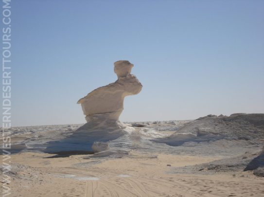 Surreal shapes in the White Desert