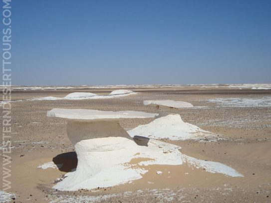 Tables in the White Desert National Park