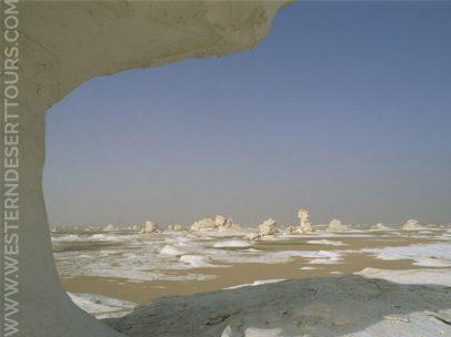 The White Desert near Farafra Oasis