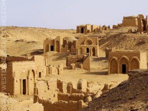 Tombs in the Necropolis of al-Bagawat near Kharga Oasis