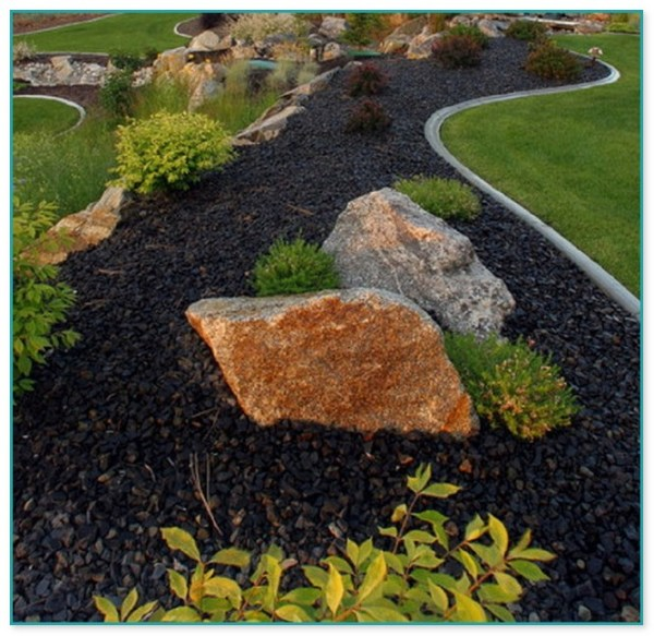 engraved rocks landscaping