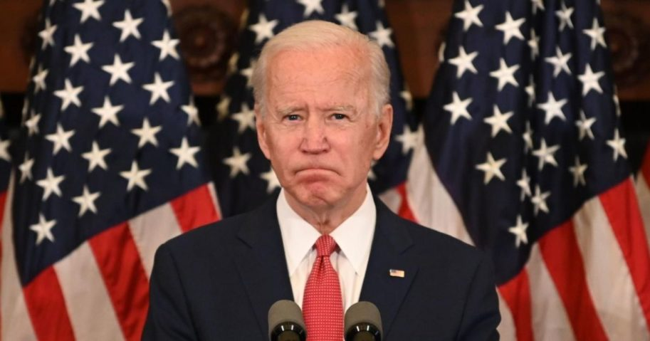 Former Vice President Joe Biden speaks about the unrest across the country from Philadelphia City Hall on June 2, 2020, in Philadelphia.