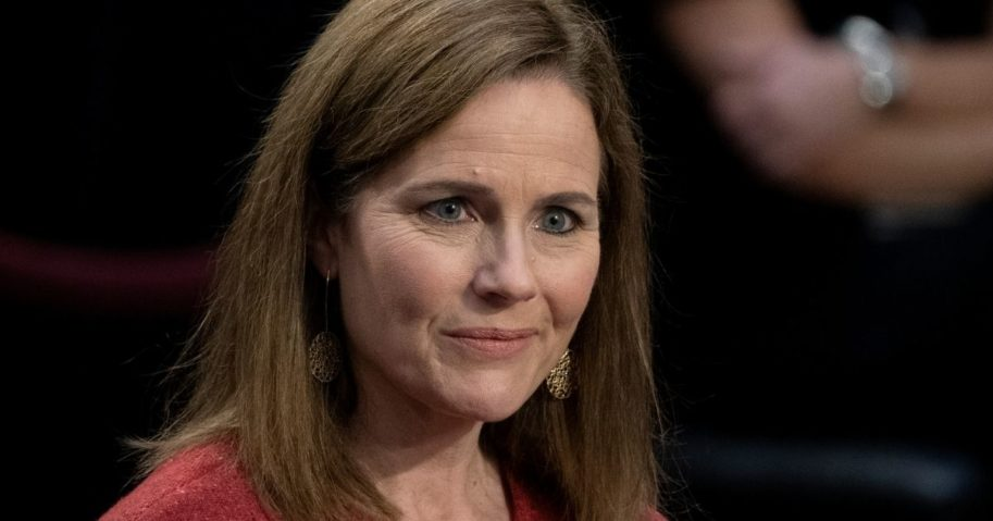 Amy Coney Barrett listens during a Senate Judiciary Committee confirmation hearing Tuesday in Washington, D.C.