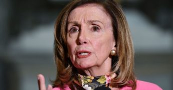House Speaker Nancy Pelosi gestures during a news conference at the Capitol in Washington on Aug. 7, 2020.
