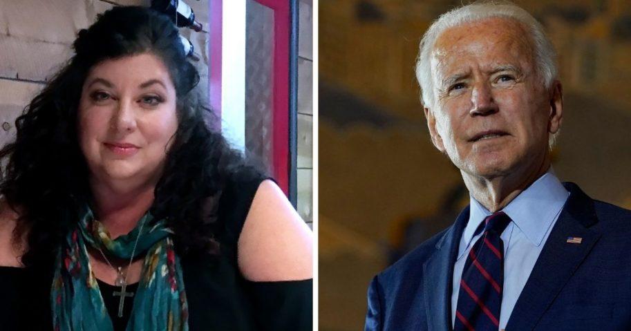 Joe Biden accuser Tara Reade, left; and former Vice President Joe Biden, right.