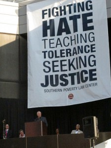 Southern Poverty Law Center sign SC1 225x300 'If You're Right Wing, You're a Hate Group'