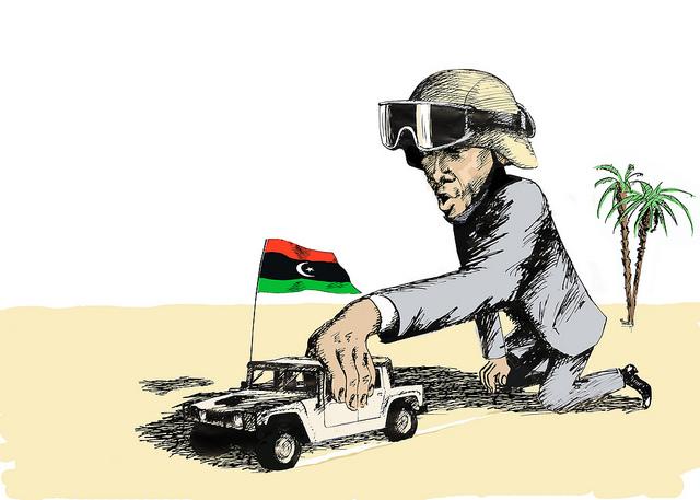 Obama Car Libya Flag SC Flicker.com CC 5914760451 0281079446 z Did Obama Stage Benghazi Attack?