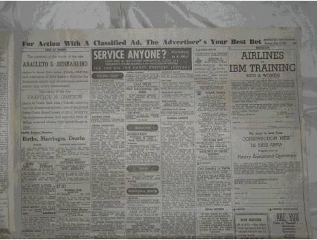 Honolulu Advertiser, May 5, 1961, Birth Announcements