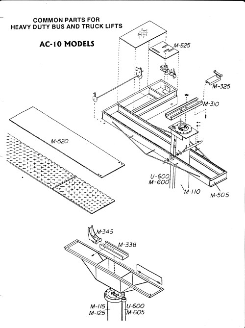 small resolution of in ground movable piston and rail lifts diagram 2