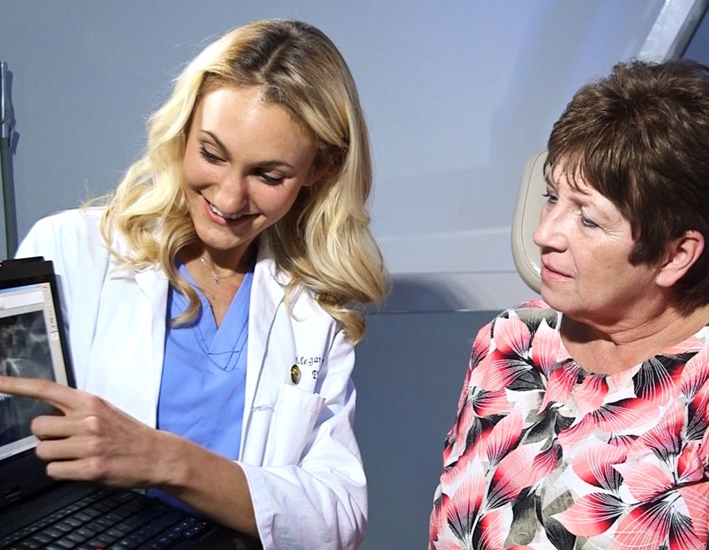 all-on-4 dental implant patient with physicians assistant