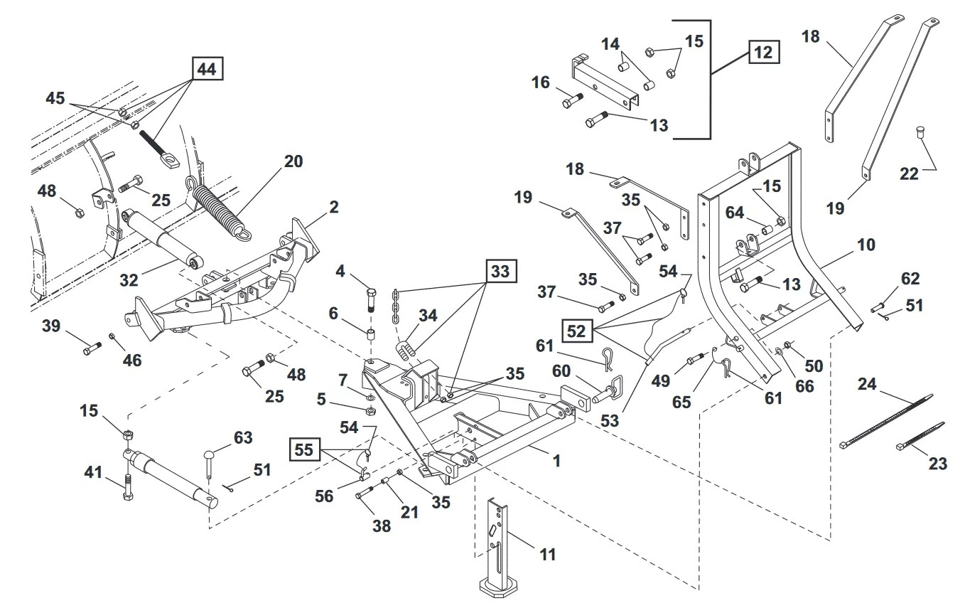 31 Western Snow Plow Parts Diagram