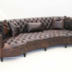 Tufted Leather Sofa Cheap Shopping Curved Western Passion