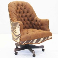 Hair On Hide Office Chair Wedding Covers Hawaii Copper Leather Tufted Western Passion