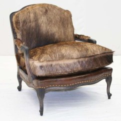 Leather Bergere Chair And Ottoman How To Reupholster A Seat Wolf Hair Western Passion