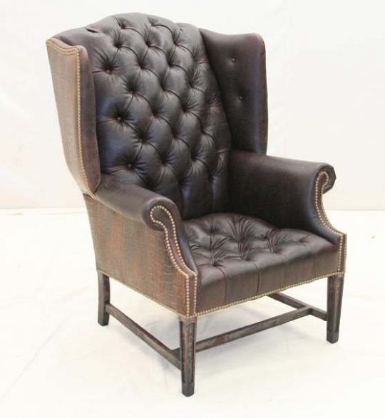 white leather wingback chair ikea lounge chairs espresso tufted wing western passion