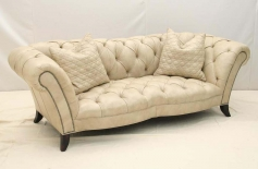 Elegant Presidential Leather Sofa Western Passion