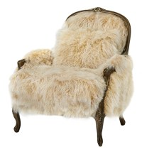 Fancy Sheepskin Accent Chair Western Accent Chairs - Free ...