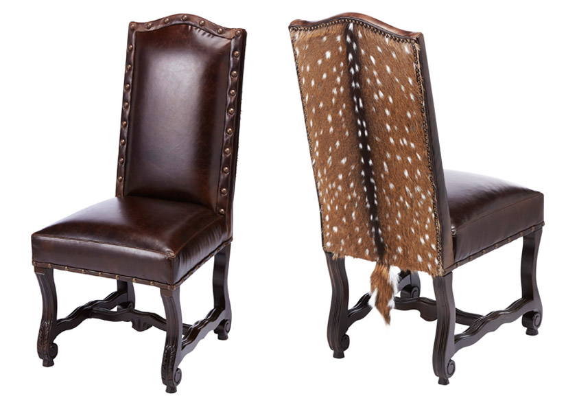 hickory chair accessories rental kansas city laramie exotic hide side chair: western passion
